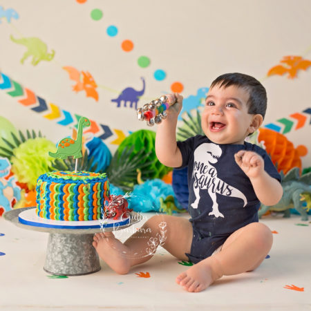 A Roarrrring Good Time | Northern NJ | Family First Birthday Photography
