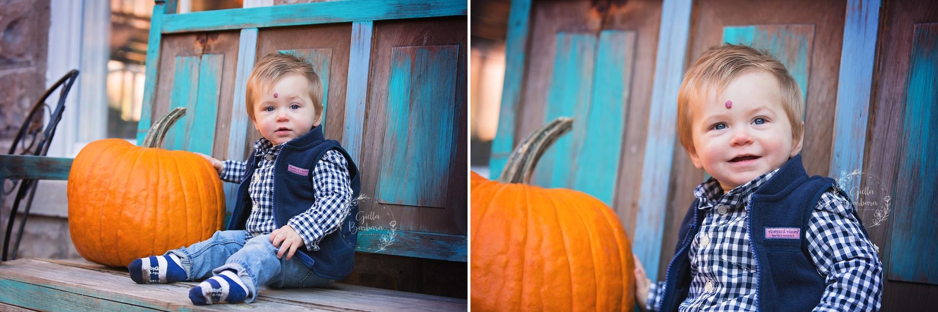 a boy and his pumpkin