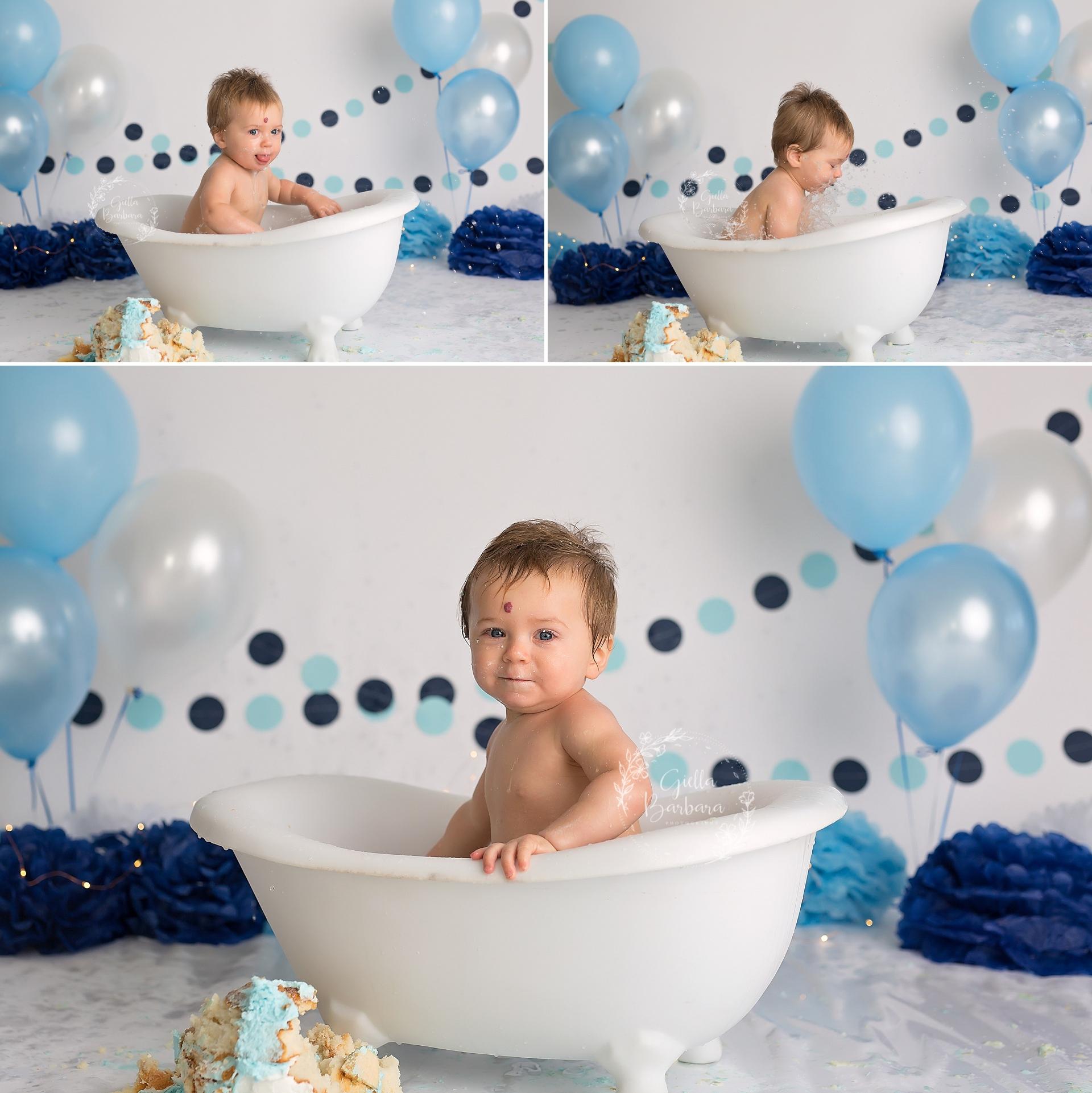 boy in a tub