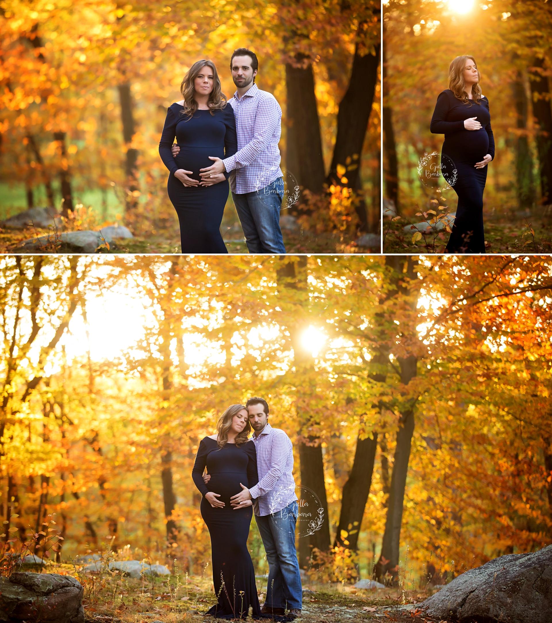 fall foliage maternity