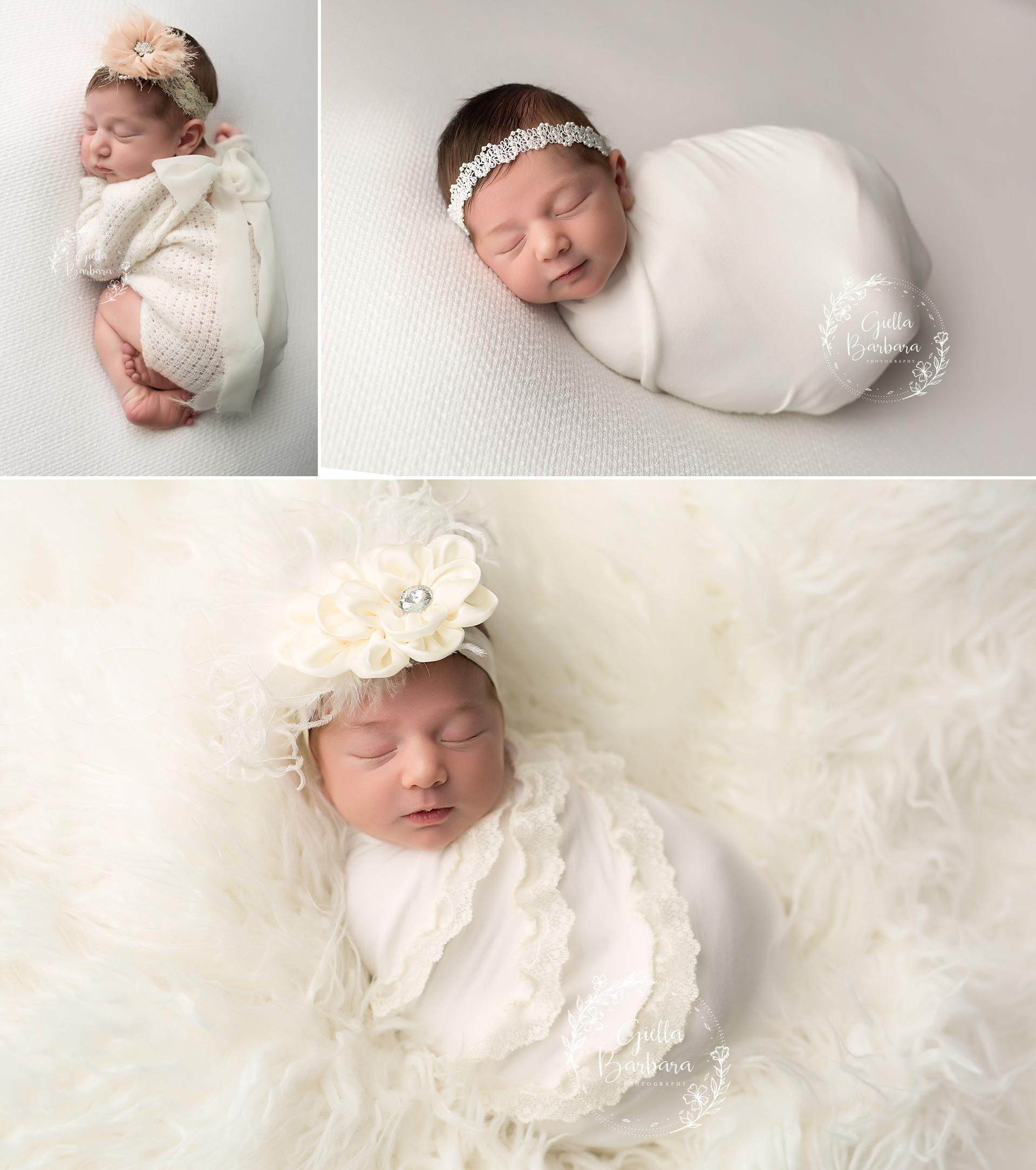 baby girl in white