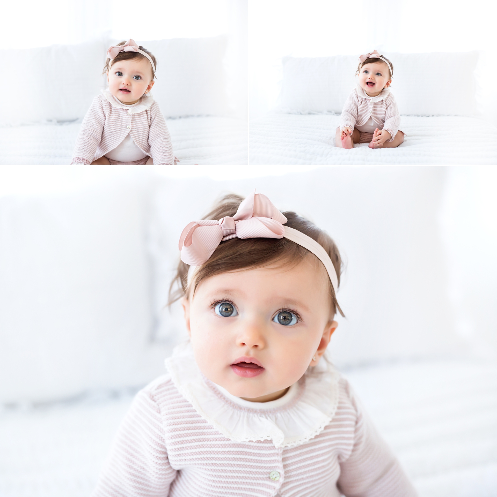eight month baby girl photography