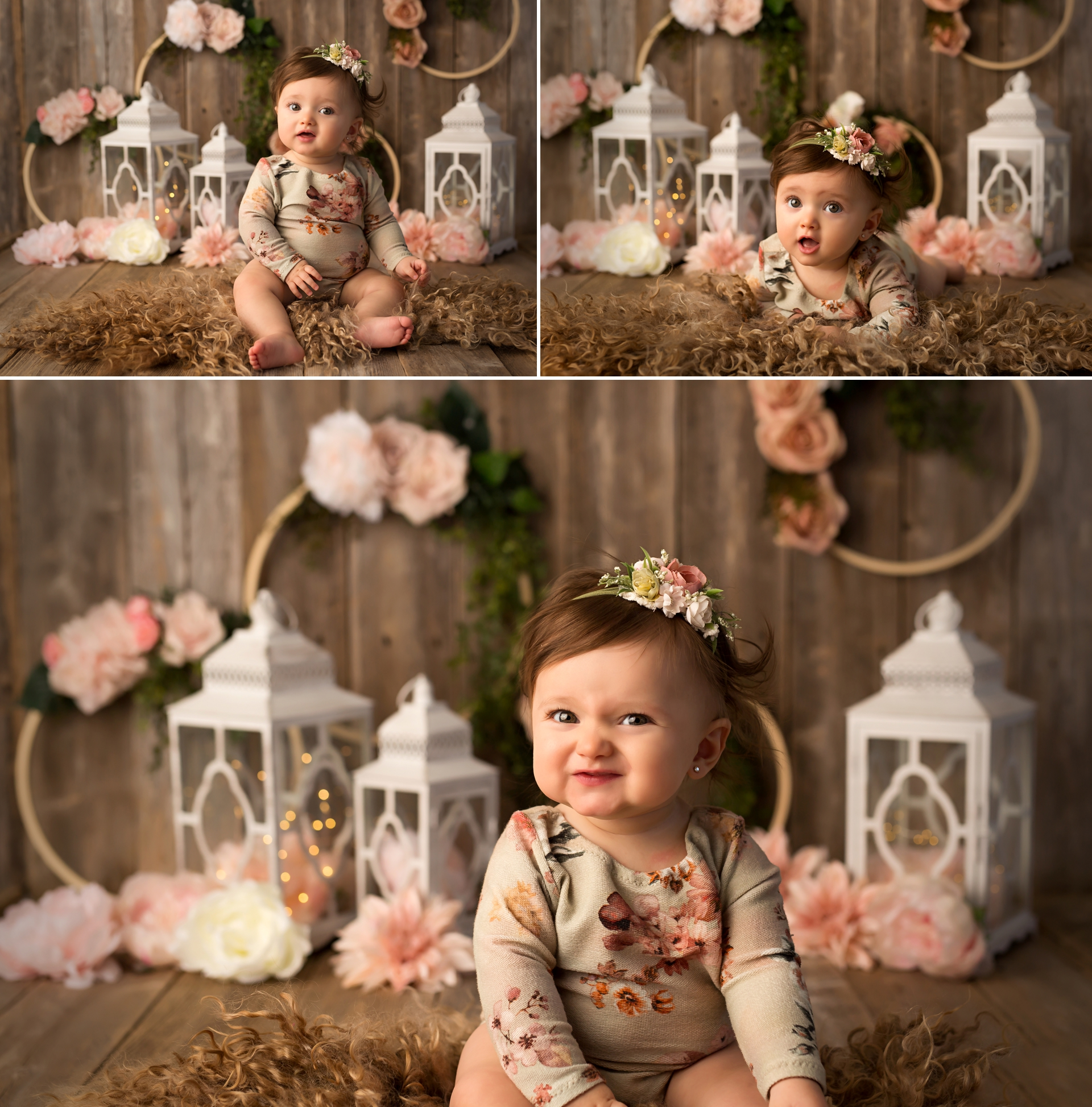 rustic floral baby photo