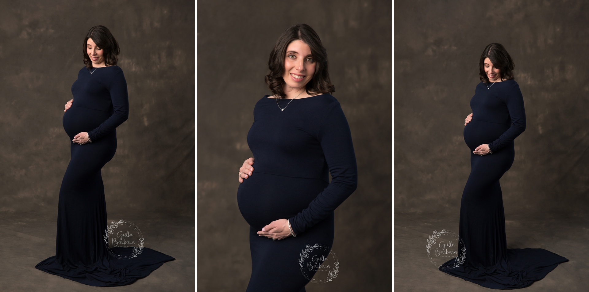 deep navy maternity dress