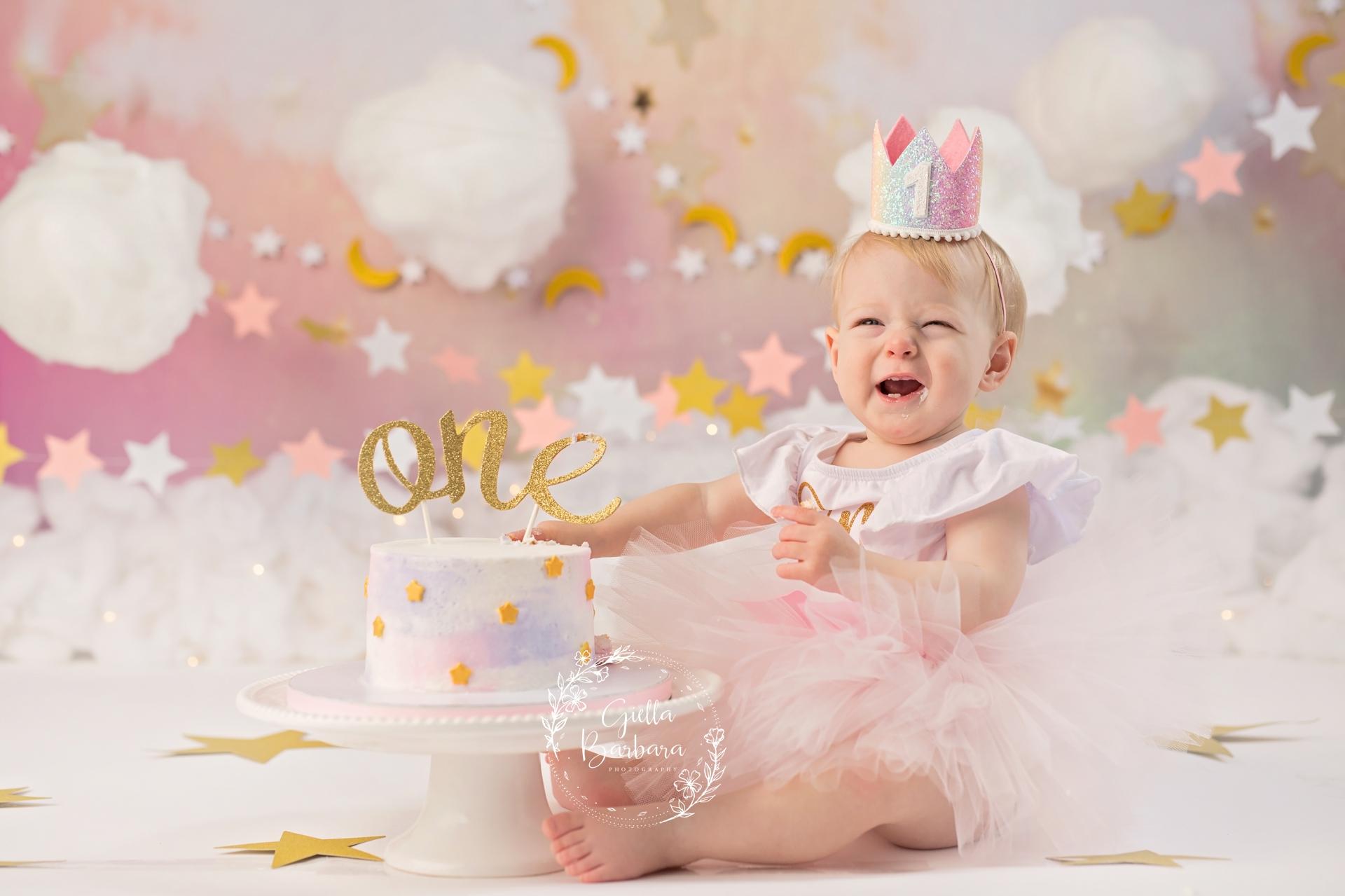 baby in pink tutu