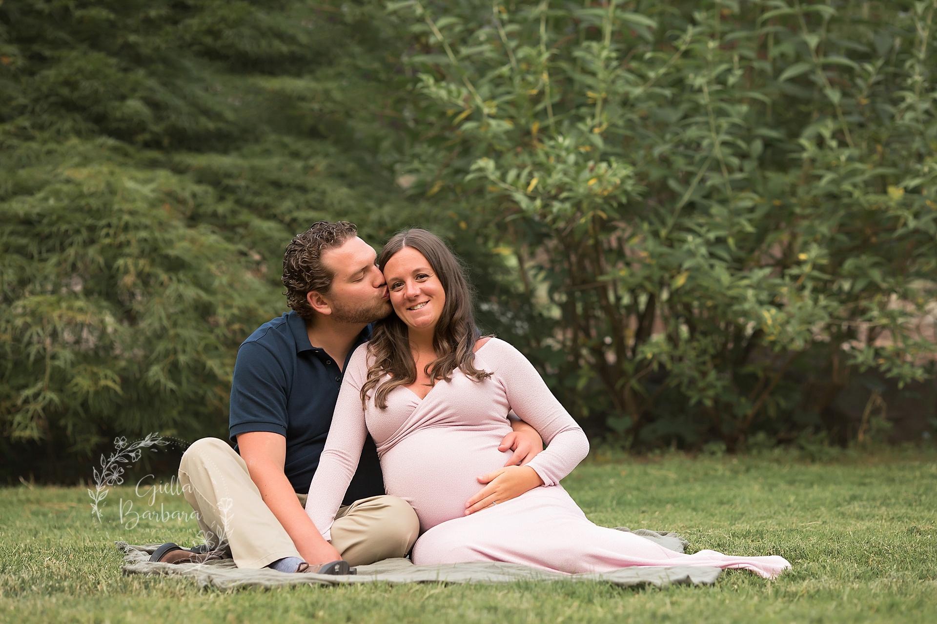 Sunset Garden Maternity Photography