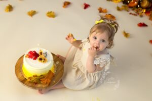 Fall Cake Smash Photography