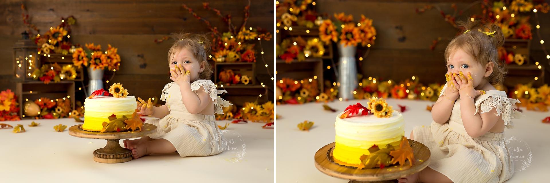 Fall Cake Smash Photography