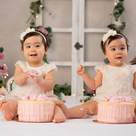 Tea for Two~Twins Cake Smash Photography~Midland Park, NJ