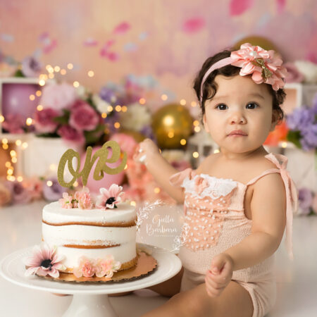 Baby Girl Cake Smash~NJ First Birthday Photography